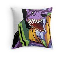Eva unit 1 scream Throw Pillow