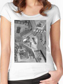 Escher's Asylum of the Daleks Women's Fitted Scoop T-Shirt