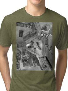 Escher's Asylum of the Daleks Tri-blend T-Shirt