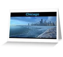 Shameless style - Chicago skyline Greeting Card