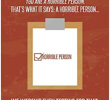 Aperture Science Portal Horrible Person by JakeLovesPhoto