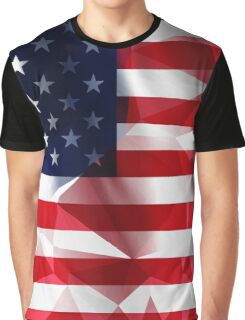 United States flag low poly pixcel texture by MrN Graphic T-Shirt