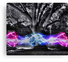 Traveling Electricity HDR Canvas Print