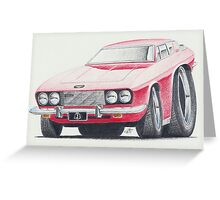Jensen Interceptor III by Glens Graphix Greeting Card
