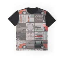 Volvo 740 745 Turbo Wagon Trio Graphic T-Shirt