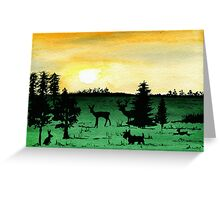 Scottie Dog 'Woodland Walk' watercolour Greeting Card