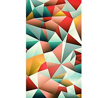 Modern Abstract Geometric Pattern Photographic Print