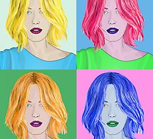Pop Art Beautiful Woman - Warhol Style by ibadishi