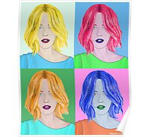 Pop Art Beautiful Woman - Warhol Style Poster