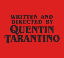 Written and Directed by Quentin Tarantino (dark) Kids Tee