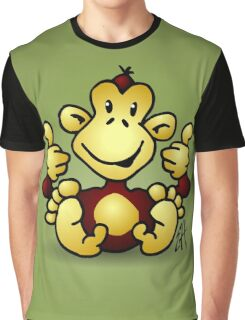 Manic Monkey with 4 thumbs up Graphic T-Shirt