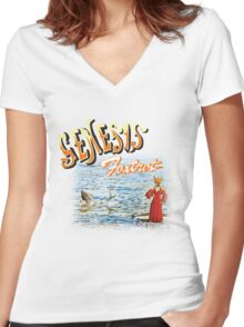Foxtrot - Genesis Women's Fitted V-Neck T-Shirt
