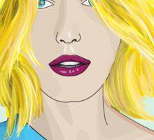 Blonde Ambition - Gorgeous Blonde Woman Illustration Sticker