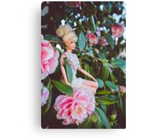 Barbie in the flowers Canvas Print