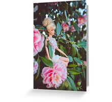 Barbie in the flowers Greeting Card