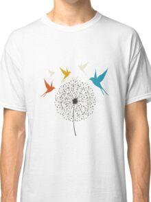 Dandelion and bird Classic T-Shirt