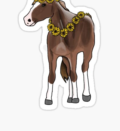 Horse with sunflowers  Sticker