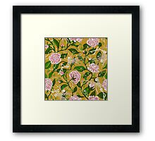 Death of Summer (mustard and pale rose) Framed Print