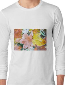Autumn leaves as a background Long Sleeve T-Shirt