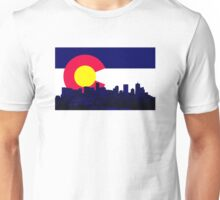 Denver Skyline CO Flag Unisex T-Shirt