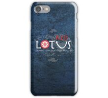 the red lotus iPhone Case/Skin