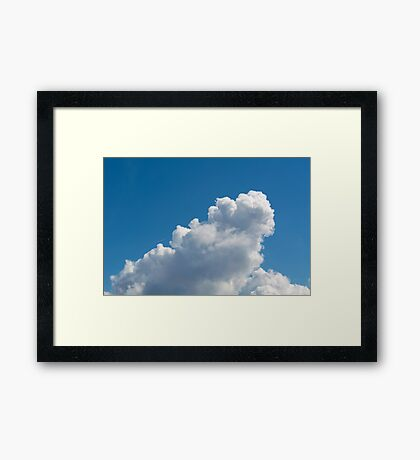Sample cumulus clouds as a background Framed Print