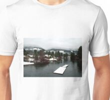 Cowichan River from the Duck Pond Bridge (Lake Cowichan, Vancouver Island, British Columbia, Canada) Unisex T-Shirt