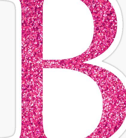 pink sparkly b // beta Sticker