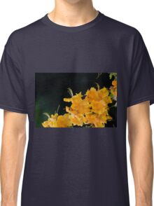 Rhododendron flowers on a black background Classic T-Shirt