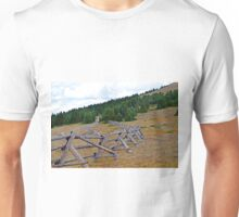 Fence line in the fall Unisex T-Shirt