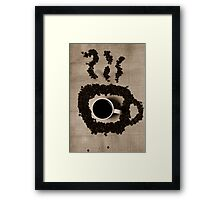 Steaming Coffee Framed Print
