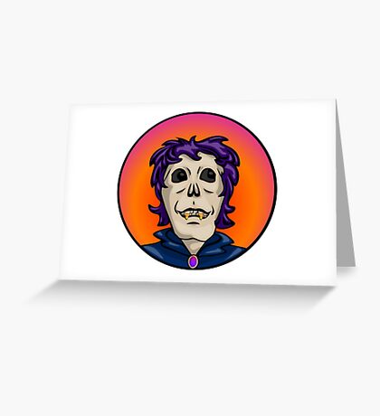 Candy Corn Zombie, Vampire Ghoul Greeting Card