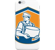 Cheesemaker Holding Parmesan Cheese Retro iPhone Case/Skin