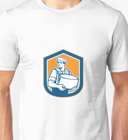 Cheesemaker Holding Parmesan Cheese Retro Unisex T-Shirt