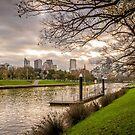 Melbourne Skyline by prbimages