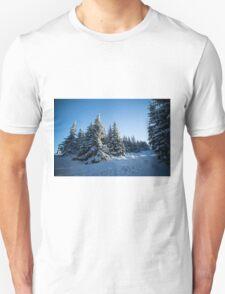 Snow Covered Trees/ Winter Fern Unisex T-Shirt