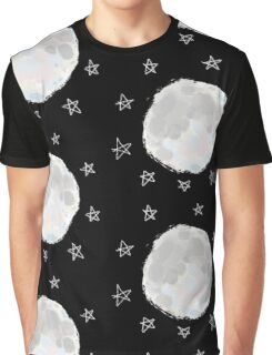 Painting of the Moon and Stars Graphic T-Shirt