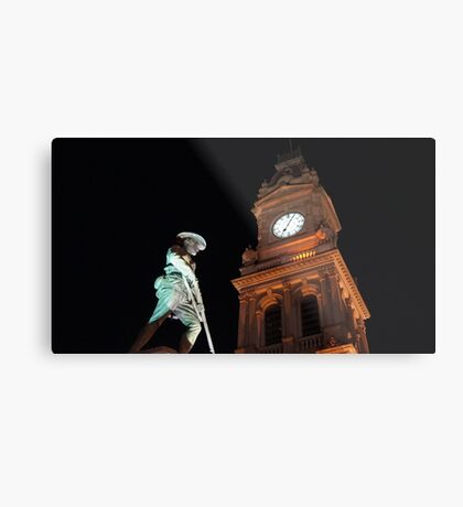 Boer War Statue and the Clock Tower Metal Print
