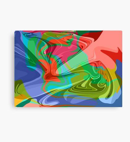 psychedelic hippy pattern Canvas Print