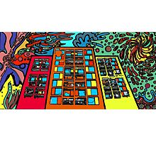 psychedelic building 60s inspired Photographic Print