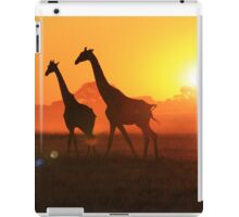 Giraffe - Sunset Gold and Harmony - African Wildlife iPad Case/Skin