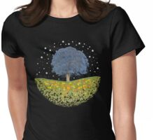 Starry Night Sky Womens Fitted T-Shirt