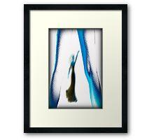 white hot dancers Framed Print