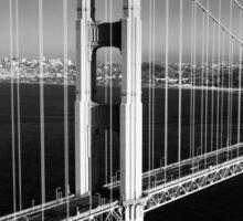 Golden Gate Bridge at Sunset Sticker