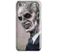 Gentlemen illustration iPhone Case/Skin