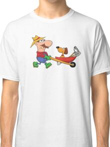 Dog and His Farmer Classic T-Shirt