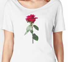Single red rose Women's Relaxed Fit T-Shirt