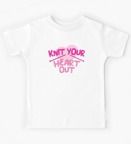 KNIT YOUR HEART OUT Kids Tee