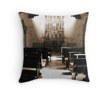 Old La Foret Church Santa Fe Style Throw Pillow