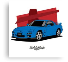 Mazda RX-7 (FD) (blue) Canvas Print